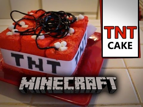 Minecraft TnT Cake - Quake N Bake