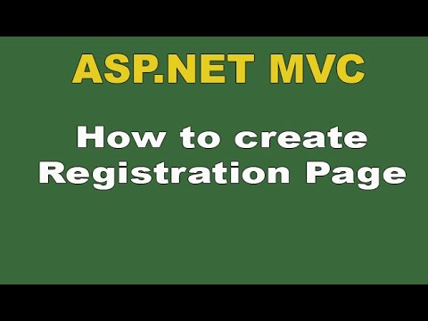 How to create Registration in asp.net mvc ,complete registration step by step