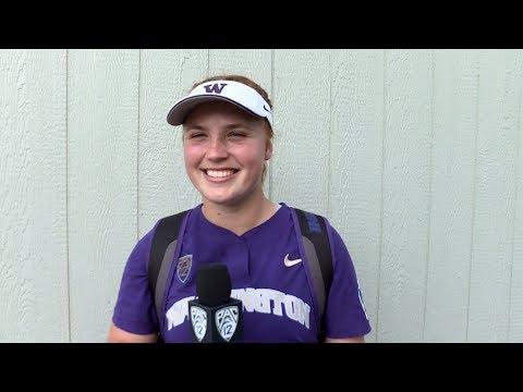 Gabbie Plain shuts down Oklahoma to start Washington's Women's College World Series run