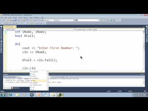 C++ Win32 Console Tutorial 8 - Checking Numeric User Input With cin.fail
