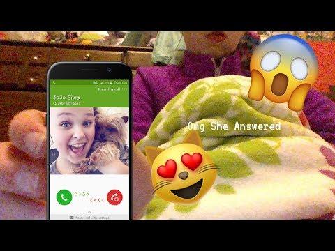 Calling Jojo Siwa Omg she answered