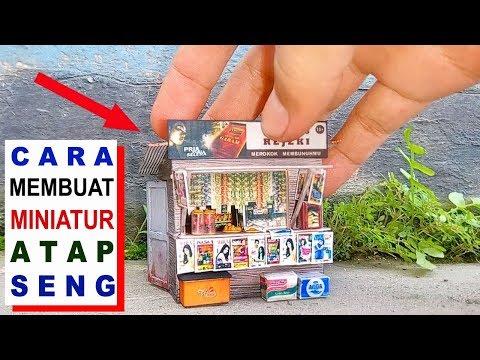 Tutorial Cara Membuat Miniatur Atap Seng Diorama Toko utk Diecast