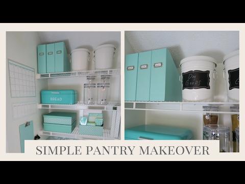 HOME ORGANIZATION | Simple Pantry Organization Ideas