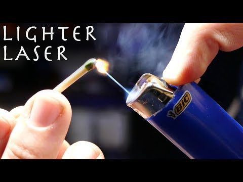 Make a Cheap LASER LIGHTER! - Awesome Lighter Hack!!! (Burning Laser Lighter)