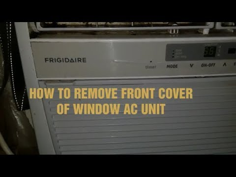 How To Remove Front Cover Of Window AC Unit - Preparing to clean your window AC.