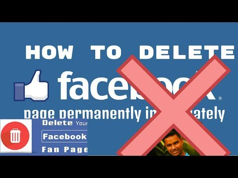 how to delete facebook page permanently immediately