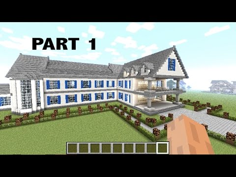 【MINECRAFT】:  how to make a MANSION step by step PART 1 (SUPER EASY TUTORIAL) #19