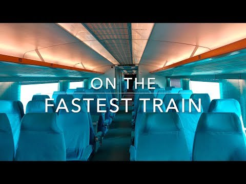 Going with the fastest train in the world