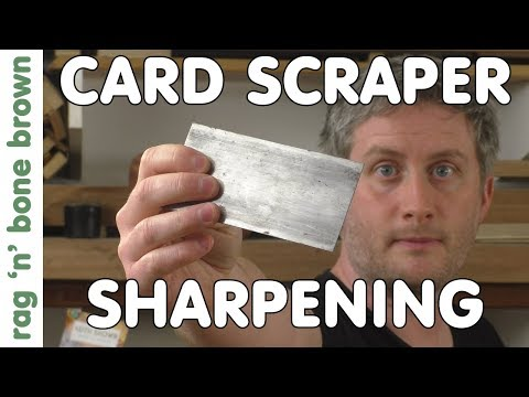 How To Sharpen A Card Scraper / Cabinet Scraper To Get Wood Shavings