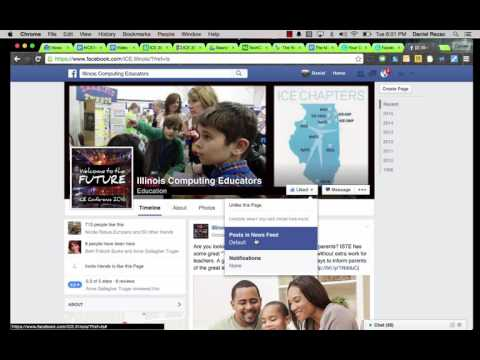 How To Set FB Posts to