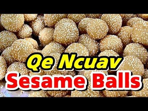 Ua Qe Ncuav (Making Sesame Balls)