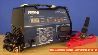 FERM Electronic Battery Charger - With Jumpstarter - 6V/12V | BCM1020