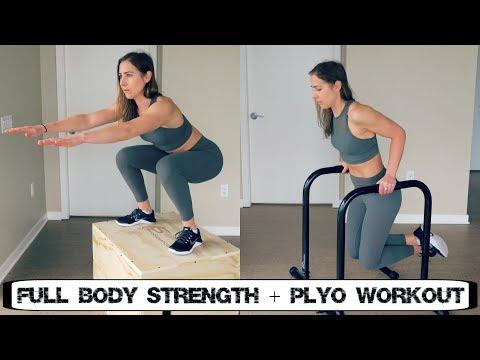 Full Body Strength and Plyometrics Workout (follow along)