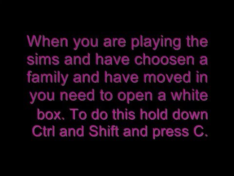 Sims 2 Cheats Giving your sims emotions