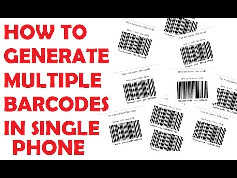 How to Generate multiple JIO Barcodes in one Phone | No Root Required | MAKE MILLIONS OF BARCODES