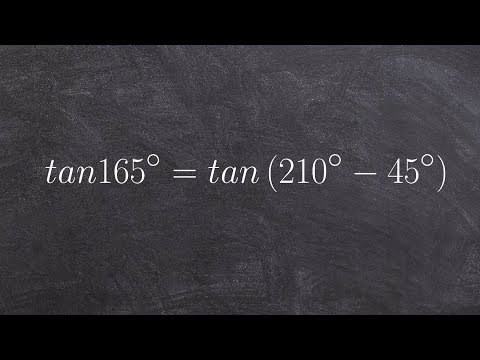 How to evaluate the difference of two angles for tangent, tan