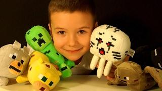 Download Майнкрафт Видео - Игрушки для Детей - Влог Распаковка - Крипер, Гаст, Эндермен Video