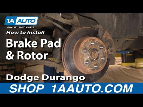 How To Install Replace Brake Pads and Rotors Dodge Durango Dakota 97-03 1AAuto.com