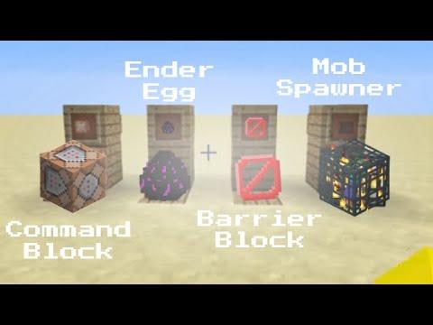 Get command block, ender egg, barrier, and mob spawner 1.8