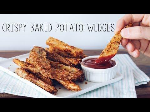 CRISPY BAKED POTATO WEDGES (VEGAN COMFORT FOOD)