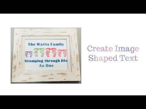 Cricut DS - Create shaped word art