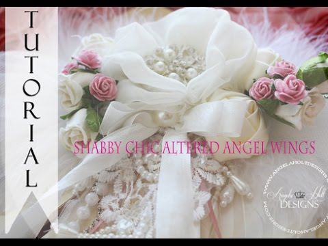 Shabby Chic Angel Wings Tutorial For Sale