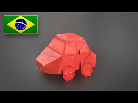 Origami: Carro (Fusca) - Instruções em Português BR