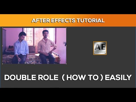 How to Make Double Role Movie - After Effects Tutorial (Tamil)