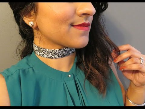 DIY Choker - How To Make A Choker Necklace With Patterned Tap