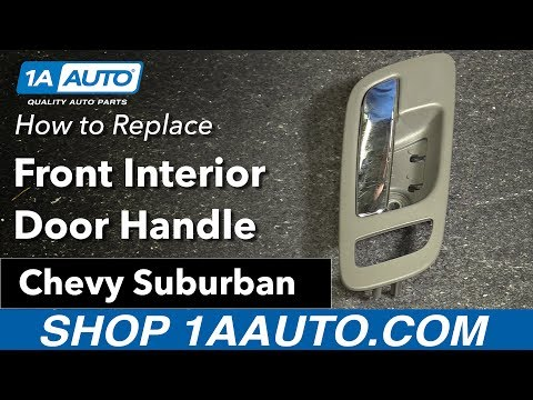 How to Replace Install Front Interior Door Handle 2007-13 Chevy Suburban