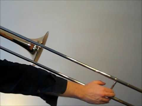 Learn to play B major scale on trombone