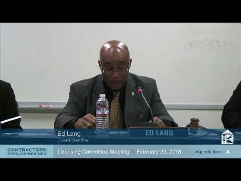 CSLB Enforcement Committee Meeting 02.23.18
