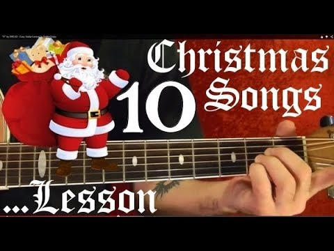 10 Christmas Songs - Guitar Lesson