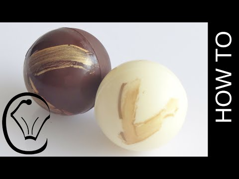 Chocolate Spheres with Gold Accents How To by Cupcake Savvy's Kitchen