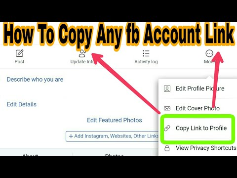 How To Copy The Link Of Any Facebook Profile And Page Without Any App