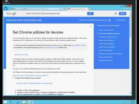 Install Chrome Extentions like ChromeGuard using Windows Server GPOs