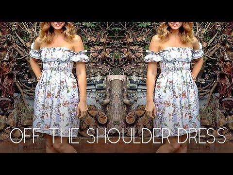 DIY   OFF THE SHOULDER SUMMER DRESS   SHIRRING TUTORIAL   SZILVIA BODI