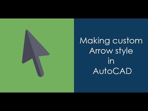 Making a custom arrow style in AutoCAD
