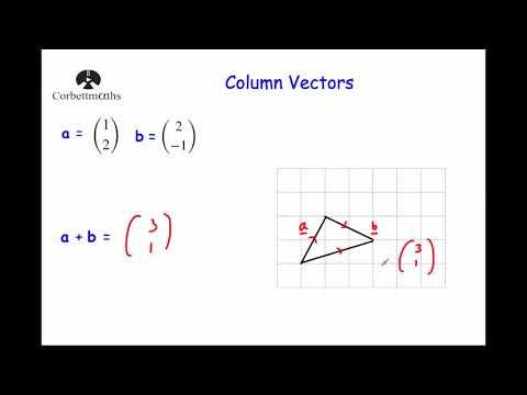 Column Vectors - Corbettmaths