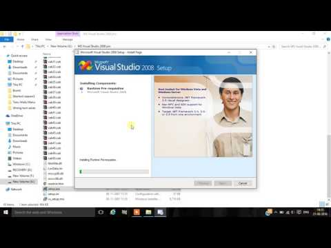 how to install visual studio 2008 in windows 10 latest