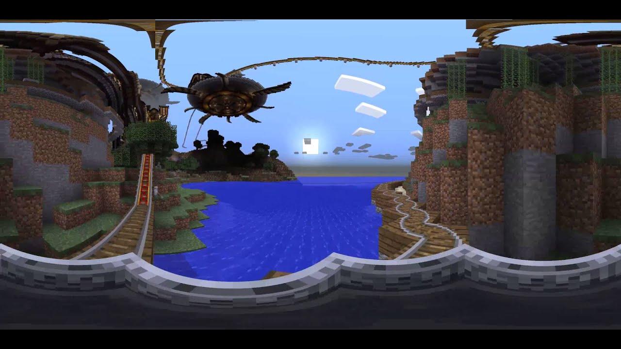 360° Minecraft Roller Coaster Ride - Rapscallion (Replay Mod)