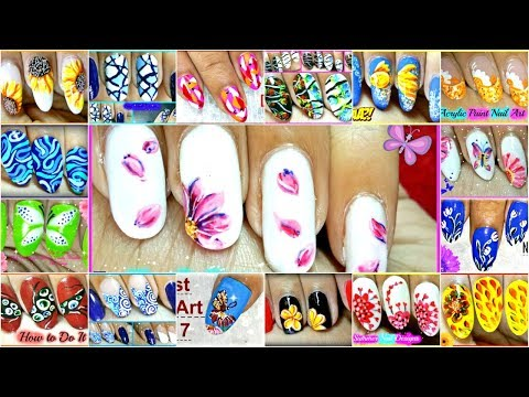 Nail Designs With Acrylic Paint : Acrylic Paint on Nails