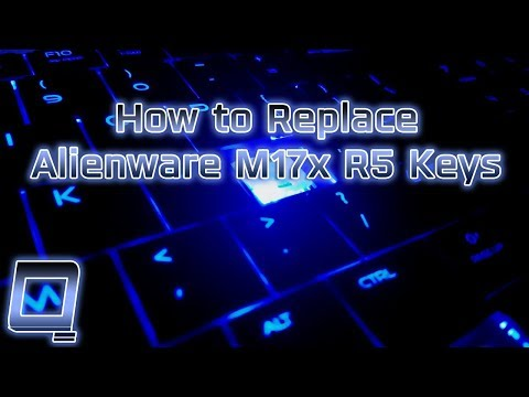How to Replace Alienware M17x R5 Laptop Keys