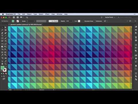 How to Make Geometric Gradient Patterns in Adobe Illustrator