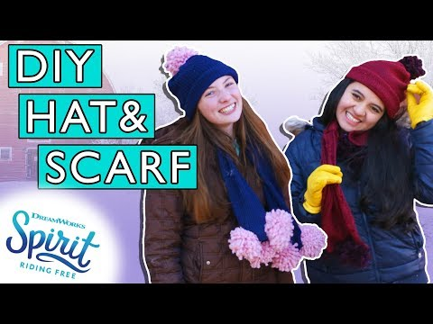 DIY Pom Pom Hat, Scarf, & Gloves From An Old Sweater! | THAT'S THE SPIRIT