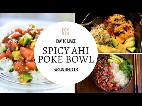 HOW TO MAKE AHI POKE! (SPICY POKE BOWL) | In Da Kitchen