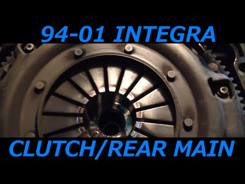 Acura Integra 94-01 Clutch Transmission and Rear Main Seal Removal And Install