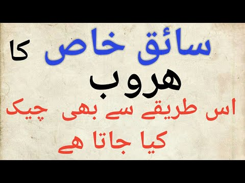 HOW TO CHECK SAIQ E KHAAS ( PRIVATE DRIVER) HUROOB ONLINE  URDU/ HINDI TUTORIAL