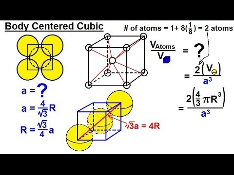 Chemistry - Liquids and Solids (27 of 59) Crystal Structure: Density of the Unit Cell: Body Centered