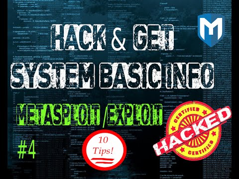 Metasploit  #4 How to get compromise system basic info . 10 tips and tricks